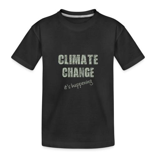 Climate change - Teenager premium biologisch T-shirt