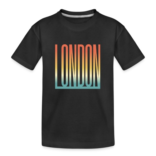 London Souvenir England Simple Name London - Teenager Premium Bio T-Shirt