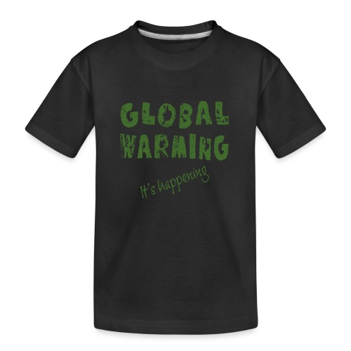 Opwarming van de aarde - global warming - Teenager premium biologisch T-shirt