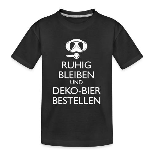 Ruhig bleiben und Deko-Bier bestellen Umhängetasc - Teenager Premium Bio T-Shirt