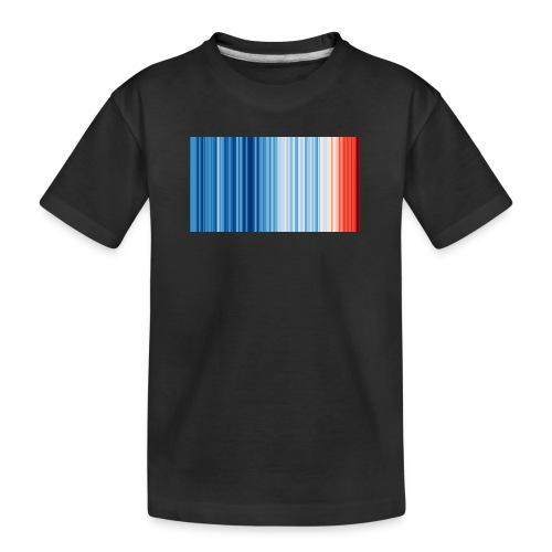 Klimawandel - Warming Stripes - Wärmestreifen - Teenager Premium Bio T-Shirt
