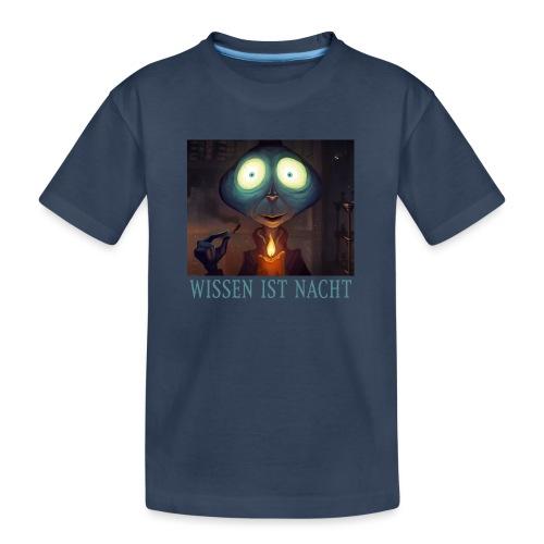 Wissen ist Nacht - Teenager Premium Bio T-Shirt