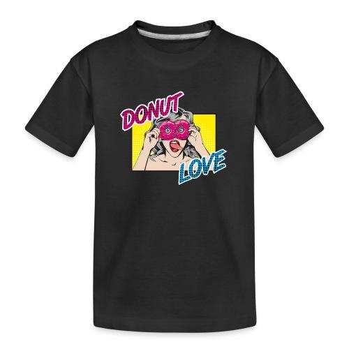 Popart - Donut Love - Zunge - Süßigkeit - Teenager Premium Bio T-Shirt
