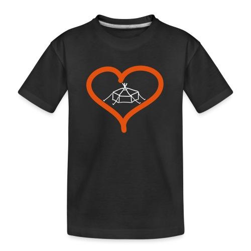Herzjurte - Teenager Premium Bio T-Shirt