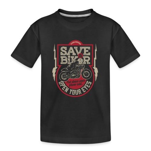 Save A Biker - Teenager Premium Organic T-Shirt