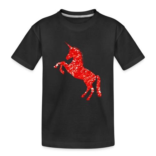 unicorn red - Ekologiczna koszulka młodzieżowa Premium