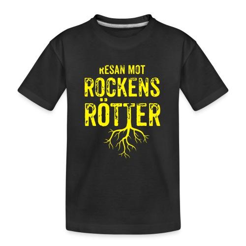 Fotbollströja svart. Resan mot rockens rötter. - Ekologisk premium-T-shirt tonåring