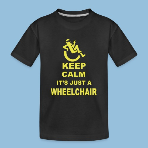 Keepcalmjustwheelchair2 - Teenager premium biologisch T-shirt
