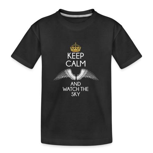 Keep Calm - Ekologiczna koszulka młodzieżowa Premium