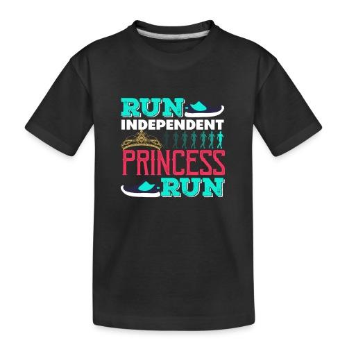 RUN INDEPENDENT PRINCESS RUN - Teenager Premium Bio T-Shirt