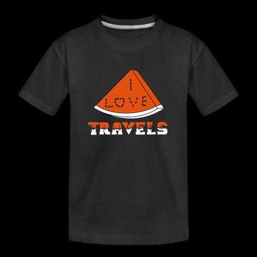 I LOVE TRAVELS FRUITS for life - Teenager Premium Organic T-Shirt