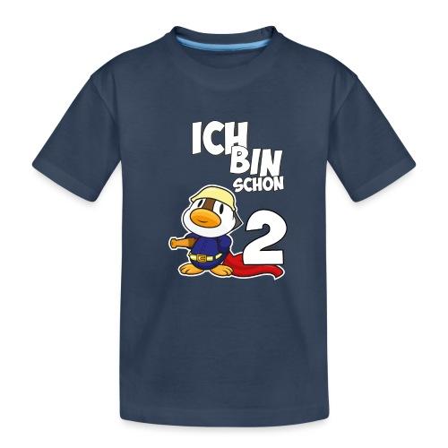 Stolze Feuerwehr Ente 2. Geburtstag Jungen Mädchen - Teenager Premium Bio T-Shirt
