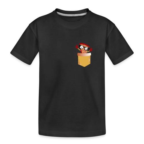 Pizza Lover lomme - Premium økologisk T-skjorte for tenåringer