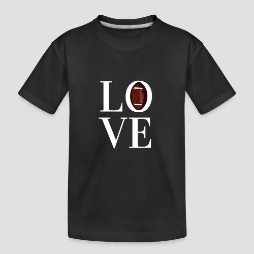 DESIGN football love coloured - Teenager Premium Bio T-Shirt