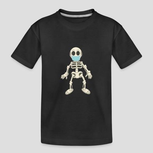 Skelett mit Maske - Virus - Teenager Premium Bio T-Shirt