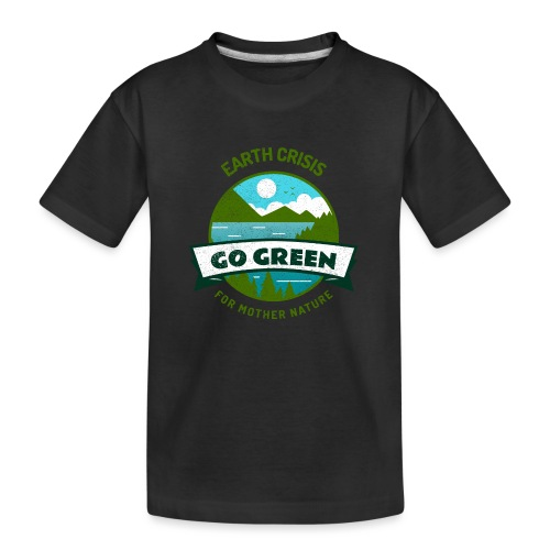 Earth Crisis Go Green For Mother Nature - Teenager premium biologisch T-shirt