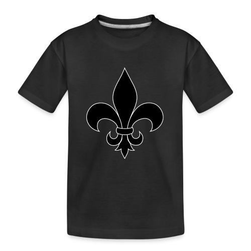 fleur_de_lis_black_silhou - T-shirt bio Premium Ado