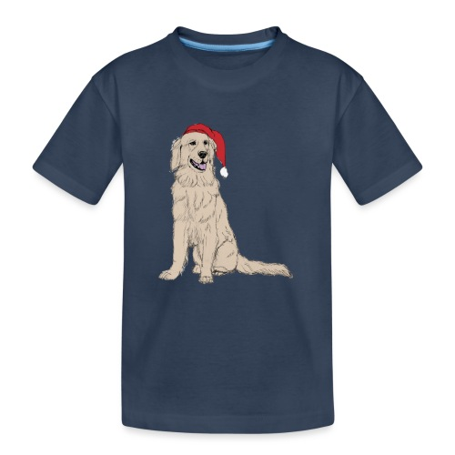 Golden Retriever Christmas - Teenager premium T-shirt økologisk