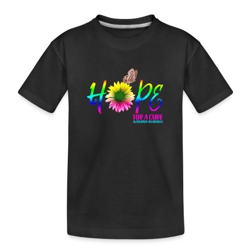 Hope For A Cure Alzheimer Awareness - Teenager Premium Organic T-Shirt
