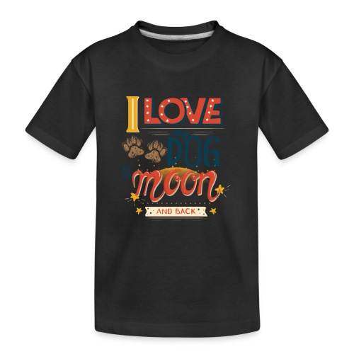 Moon Dog Light - Ekologisk premium-T-shirt tonåring