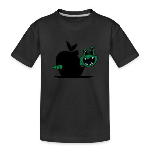 Wurm im Apfel - Teenager Premium Bio T-Shirt