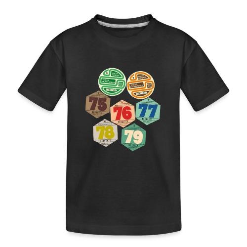 Vignettes automobiles années 70 - T-shirt bio Premium Ado