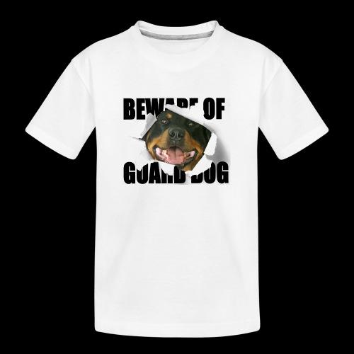 beware of guard dog - Teenager Premium Organic T-Shirt