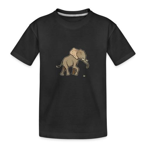 African Elephant (black edition) - Teenager Premium Bio T-Shirt