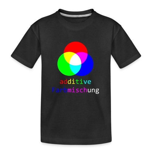 additive Farbmischung Shirt Physiker Optik - Teenager Premium Bio T-Shirt