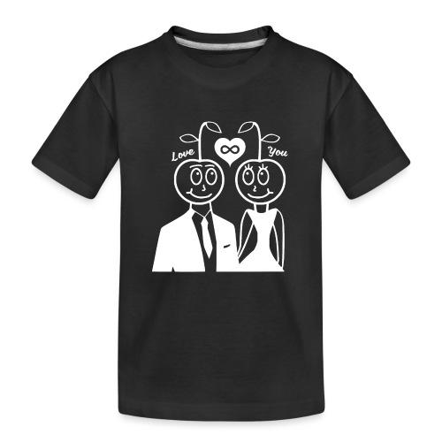 Happy Kirsche Weiß - Teenager Premium Bio T-Shirt