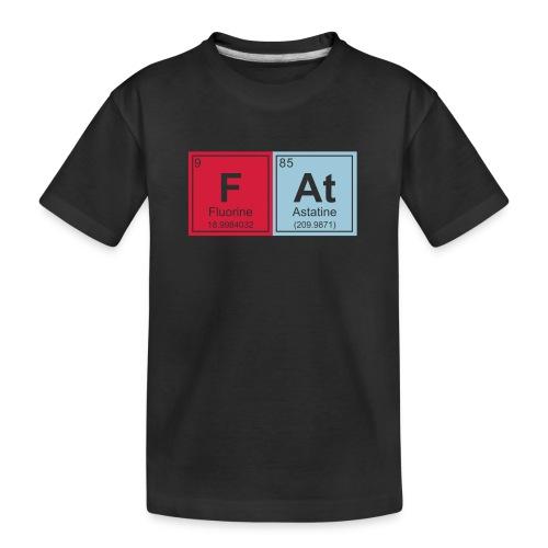 Geeky Fat Periodic Elements - Teenager Premium Organic T-Shirt