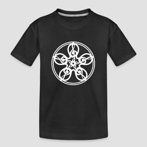 Treble Clef Mandala (white) - Teenager Premium Organic T-Shirt