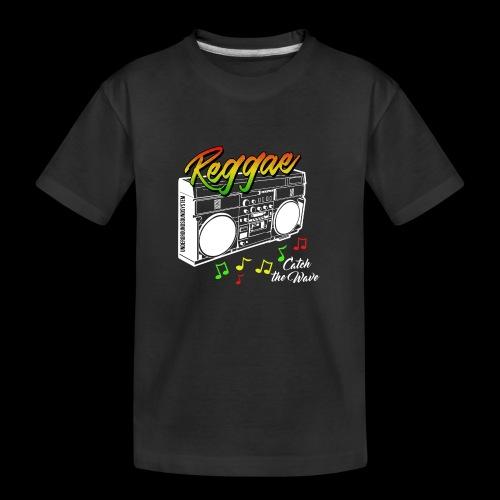 Reggae - Catch the Wave - Teenager Premium Bio T-Shirt