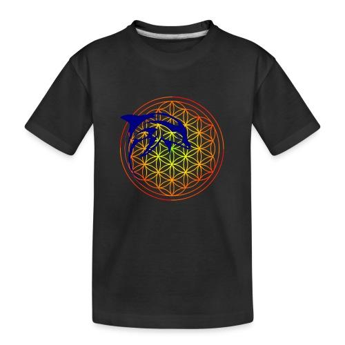 fleur de vie dauphin - T-shirt bio Premium Ado