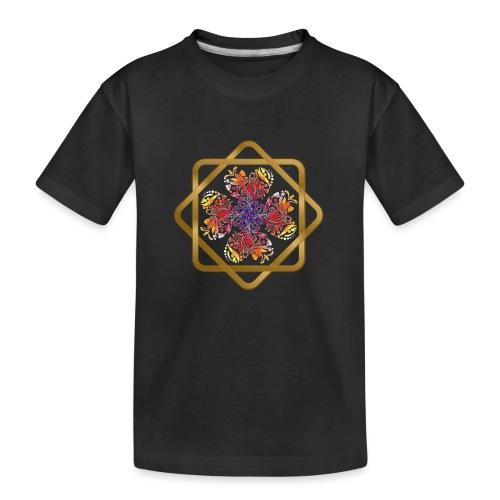 Kleeblatt aus Herzen Octagram - Glück Liebe Sicher - Teenager Premium Bio T-Shirt