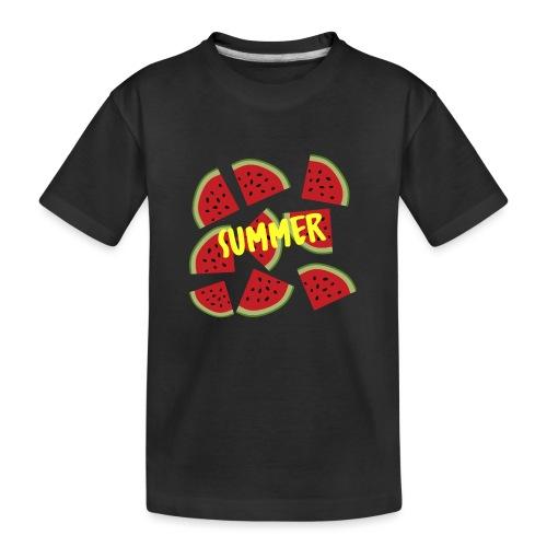 Sommer Sonne Wassermelone - Teenager Premium Bio T-Shirt