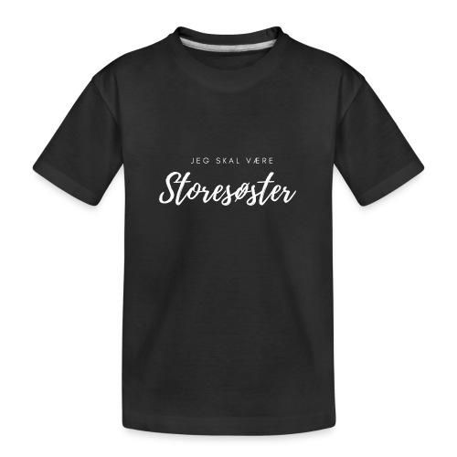 Jeg skal være storesøster - Teenager premium T-shirt økologisk