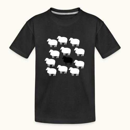 Lustige Schafherde Schwarzes Schaf Geschenkidee - T-shirt bio Premium Ado