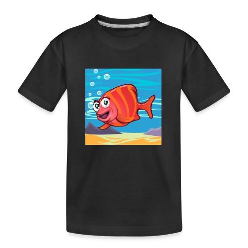 Fish Cartoon - Maglietta ecologica premium per ragazzi