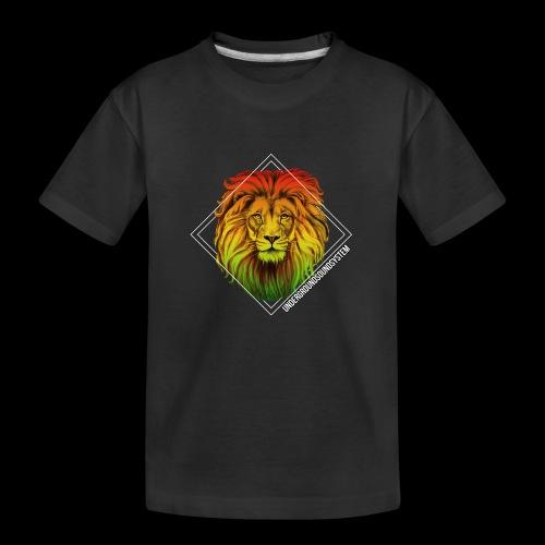 LION HEAD - UNDERGROUNDSOUNDSYSTEM - Teenager Premium Bio T-Shirt