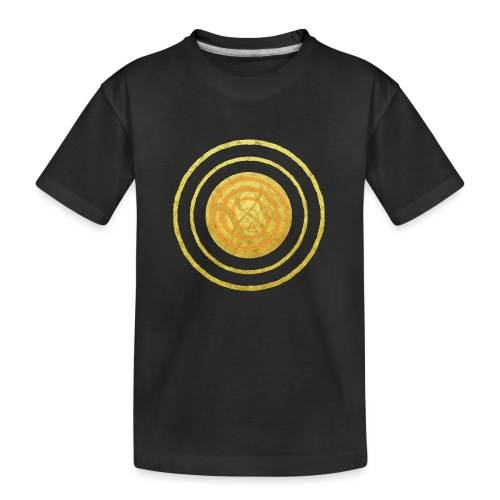 Glückssymbol Sonne - positive Schwingung - Spirale - Teenager Premium Bio T-Shirt