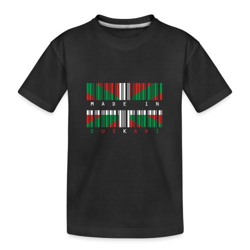 Made in Euskadi Color Clean - Camiseta orgánica premium adolescente