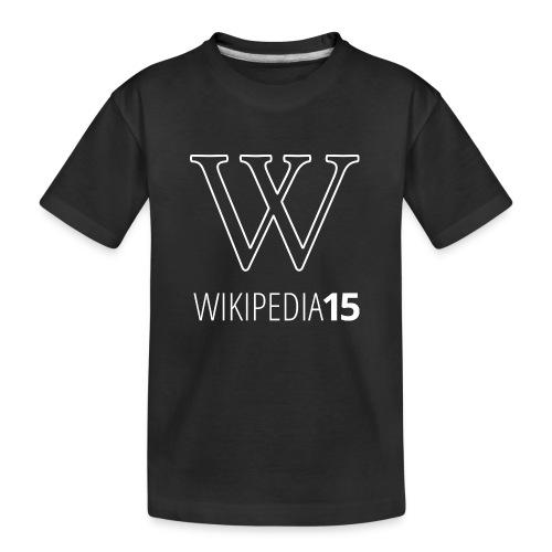 W, rak, svart - Ekologisk premium-T-shirt tonåring