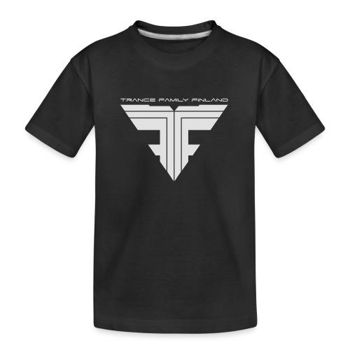 TFF Logo White - Teinien premium luomu-t-paita