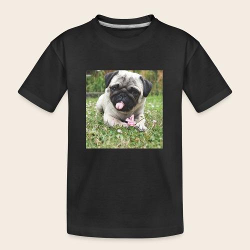 Mops Wiese - Teenager Premium Bio T-Shirt
