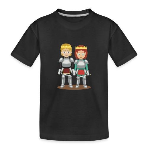 Prinzessin und Prinz mit Schwert - Teenager Premium Bio T-Shirt