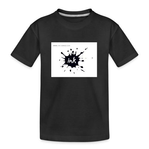 Ink Logo and website - Teenager Premium Organic T-Shirt