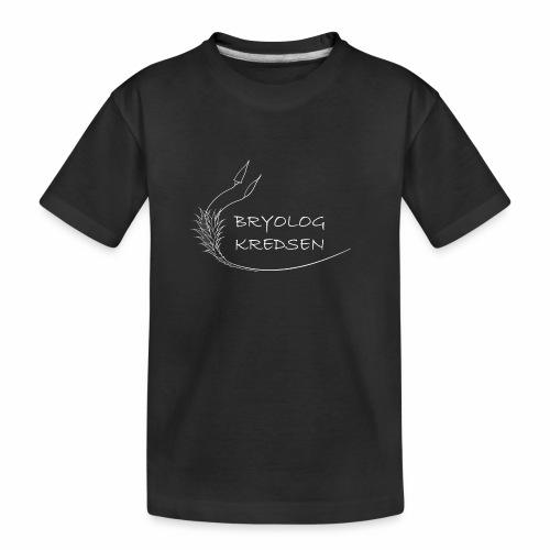 Bryologkredsen - hvidt logo - Teenager premium T-shirt økologisk