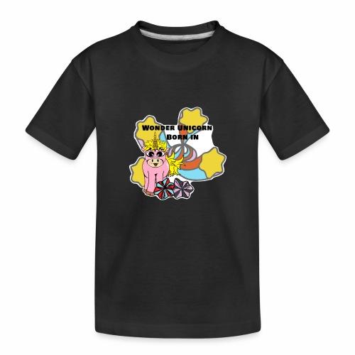 Merveilleuse Licorne née (pour fille) - T-shirt bio Premium Ado