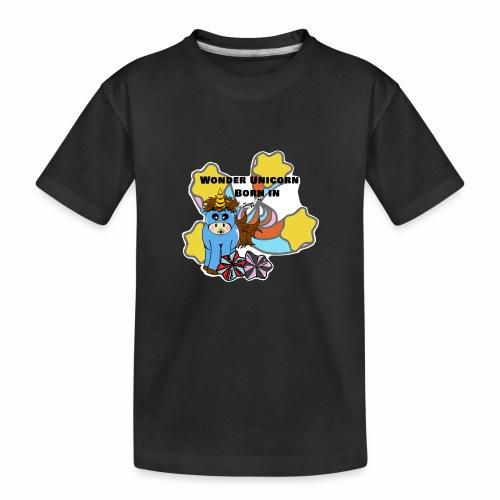 Une merveilleuse licorne est née (pour garcon) - T-shirt bio Premium Ado